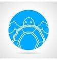 Sea turtle round icon vector image