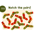 set of cool warm striped socks Kid mind game in vector image