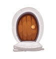 medieval entrance door from wood vector image