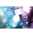 blurred lights background vector image vector image