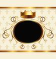 elegant aristocratic card with golden crown vector image