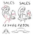 Set sales vector image
