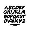 Cartoon comic graffiti doodle font alphabet vector image