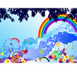 Summer greeting card vector image vector image