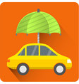 Car protection icon car Insurance vector image