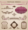 Calligraphic elements vintage vector image vector image