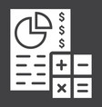 budget planing glyph icon business and finance vector image