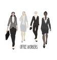 Business-ladies going forward vector image