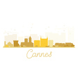 Cannes City skyline golden silhouette vector image