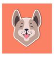 central asian shepherd dog or siberian husky head vector image