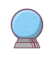 crystal ball in base with snow falling vector image