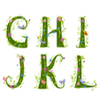 foliage letter 2 vector image