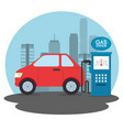gas station cartoon vector image