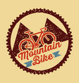 mountain bike vintage style poster vector image