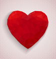 Retro heart of geometric shapes vector image