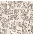 Seamless Winter Christmas Pattern vector image