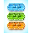 Set of numbered banners vector image