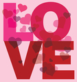 Love message print vector image