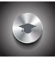 metal wi-fi button vector image