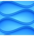 Blue shaded waves abstract background vector image vector image