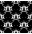 White colored floral arabesque seamless pattern vector image