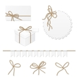Celebration set with rope bows vector image