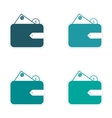 Stylish assembly sticker on paper purse and money vector image
