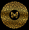 ancient greek ornament with butterfly vector image