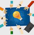 developing idea together make plan teamwork in vector image