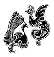 Fantasy abstract dragon tattoo vector image