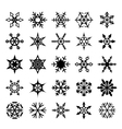 Set of graphical snowflakes vector image