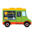 street food festival pizza trailer vector image
