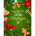 Christmas Day holiday poster or frame design vector image