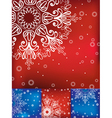 Christmas card with snowflakes set vector image vector image