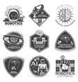 vintage future technology labels set vector image vector image