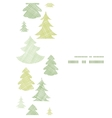 Green Christmas trees silhouettes textile vertical vector image vector image