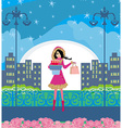 night shopping vector image vector image