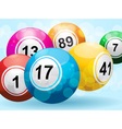 3d bingo or lottery ball background vector image vector image