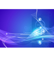 abstract futuristic blue background vector image