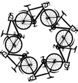 cycling around vector image vector image