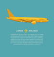 airplane in flat style flying vector image