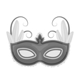 Brazilian carnival mask icon in monochrome style vector image