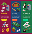casino and gambling game banner vecrtical set vector image