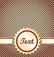 Christmas red and green striped card vector image