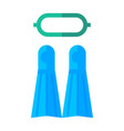 diving and snorkelling equipment vector image
