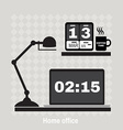 modern office workspace Flat minimalistic style vector image