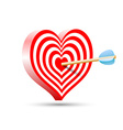 target in the form of heart and arrow vector image