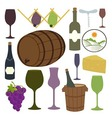 Vintage Wine Icons Collection vector image