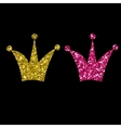 Gold Crown Isolated On black Background vector image