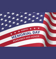 happy memorial day with flag of the united states vector image vector image